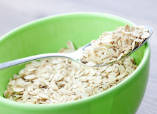 Fresh rolled oats Stock Images