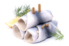 Fresh Rollmops Royalty Free Stock Photography