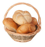 Fresh rolls in a basket Royalty Free Stock Photo