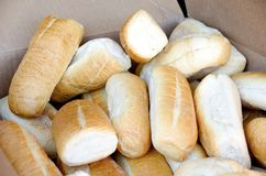 Fresh Rolls. Of the kind used at delicatessens royalty free stock photography