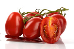 Fresh Roma tomatoes Stock Photos