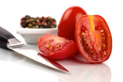 Fresh Roma tomatoes Royalty Free Stock Images
