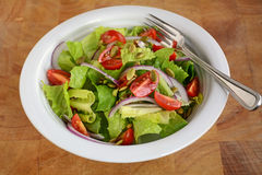 Fresh romaine and cherry tomato salad Royalty Free Stock Photo