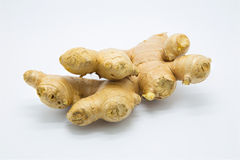 Fresh root ginger. On white background Royalty Free Stock Photography