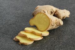 Fresh root ginger (Zingiberacae) Royalty Free Stock Images