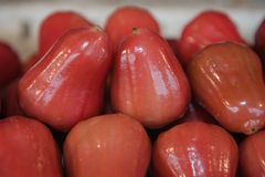 Fresh Rose apples  or chomphu fruit  is very much on the market background Stock Photo