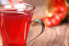 Fresh rose hip tea Stock Images