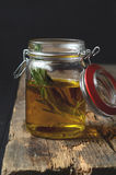 Fresh rosemary and olive oil Royalty Free Stock Images
