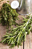 Fresh rosemary and thyme Stock Photos