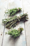 Fresh rosemary and thyme Royalty Free Stock Images