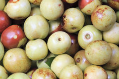 Fresh  round jujube Royalty Free Stock Images