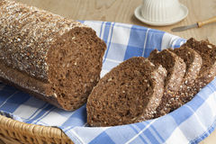 Fresh round multigrain bread Royalty Free Stock Images