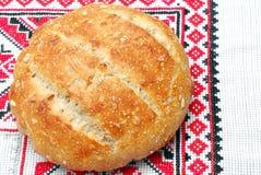 Fresh round sourdough bread Stock Images