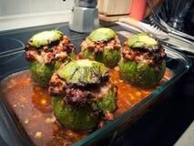 Tuna zucchini stock photos
