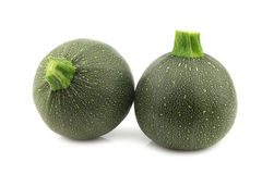 Fresh round zucchini's Royalty Free Stock Photos