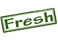 Fresh. Rubber stamp with word fresh inside,  illustration Royalty Free Stock Image