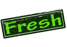 Fresh. Rubber stamp with word fresh inside,  illustration Stock Photography