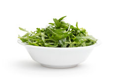 Fresh rucola leaves in a bowl Stock Image