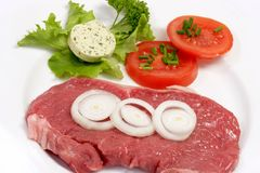Fresh Rump Steak Stock Image
