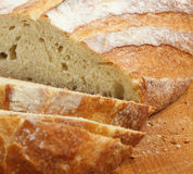 Fresh Rustic Bread Loaf Royalty Free Stock Photos