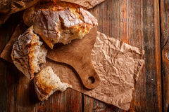 Fresh rustic bread stock photography