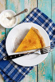 Fresh rustic tart with pumpkin Royalty Free Stock Image