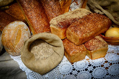 Fresh rye bread royalty free stock photos