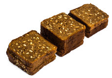 Fresh rye bread with seeds of sunflower square shape Royalty Free Stock Photo