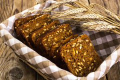 Fresh rye bread with seeds of sunflower square shape Stock Photo