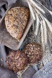 Fresh rye loaf of bread , rustic style Royalty Free Stock Image