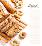 Fresh rye sliced bread Royalty Free Stock Photos