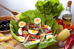 Fresh salad. Fresh and healthy salad on table royalty free stock images