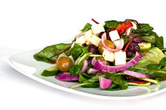 Fresh salad. On a plate royalty free stock image