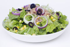 Fresh salad. Fresh and healthy salad on white background Stock Photos