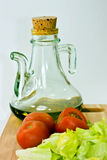 salad and olive oil Royalty Free Stock Photography