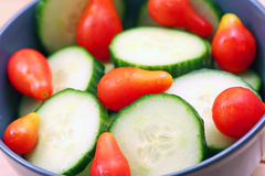 Fresh Salad. Fresh Cucumber and Tomato Salad royalty free stock photography