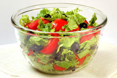 Fresh salad. Salad in the glass plate Royalty Free Stock Images