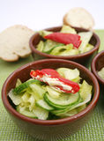 Fresh salad with antipasti Royalty Free Stock Photography