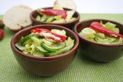 Fresh salad with antipasti Stock Photo