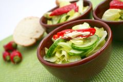 Fresh salad with antipasti Stock Images