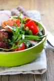 Fresh salad with arugula, radish Royalty Free Stock Images