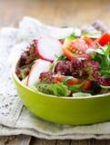 Fresh salad with arugula, radish Stock Photography