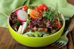 Fresh salad with arugula, radish Royalty Free Stock Photo