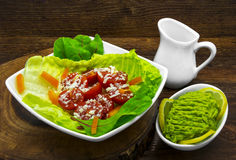 Fresh salad and avocado Stock Photo