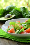 Fresh salad with avocado and tomato Royalty Free Stock Images