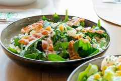 Fresh salad. With Bacons. Healthy Food Stock Photography