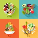 Fresh salad banners Stock Image