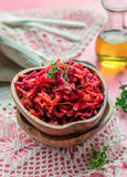 Fresh salad with beetroot, carrots and apples Royalty Free Stock Photos