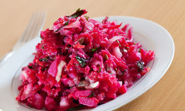 Fresh salad with beets Stock Images
