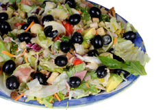 Fresh salad with black olives and avocado Royalty Free Stock Photos